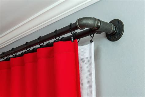 diy double curtain rod double curtain rods diy curtain menzilperde net