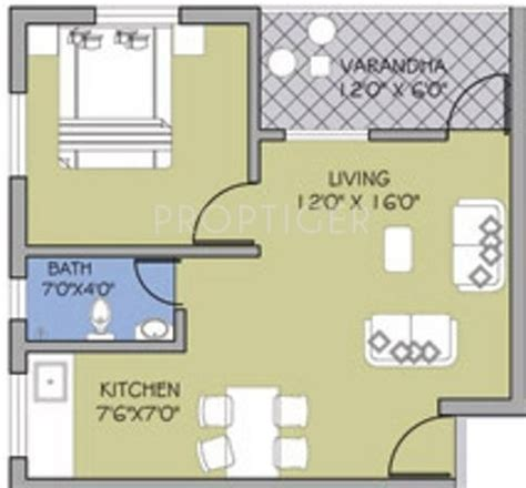 500 sq ft 1 bhk 1t apartment for sale in uday realcon east 500 sq ft 1 bhk floor plan image goka engineering gold