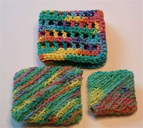 knitted scrubbies netting recycled lettuce netting diagonal scrubbies my recycled