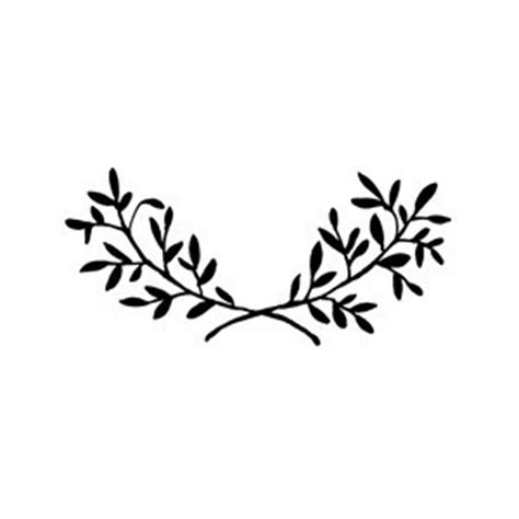 leaf pattern black and white clipart laurel tattoo picmia