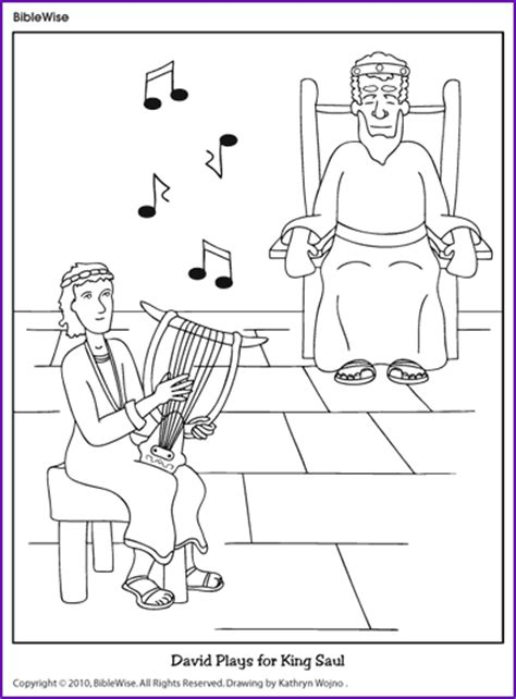 coloring pages for king saul david plays for king saul coloring page kids korner