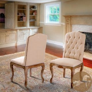 Studded Dining Room Chairs Weathered Hardwood Studded Dining Chair Set Of 2 By Christopher Home By Christopher