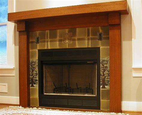 beautiful surround and mantel craftsman style