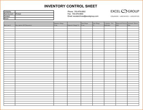 Printable Blank Inventory Spreadsheet Inventory Spreadshee Printable Blank Inventory Spreadsheet Inventory Template Pdf