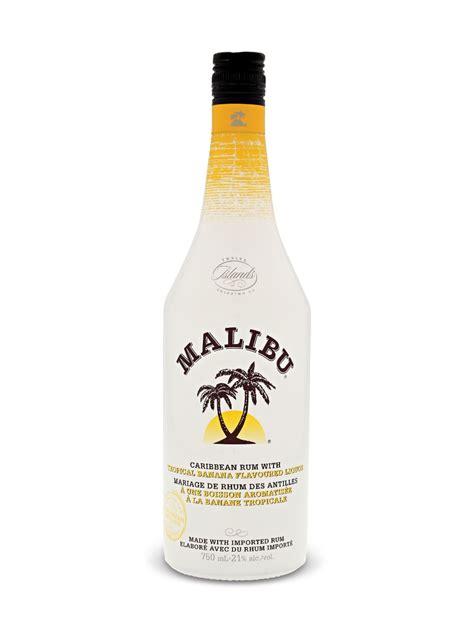 malibu bottle cost rum percentage