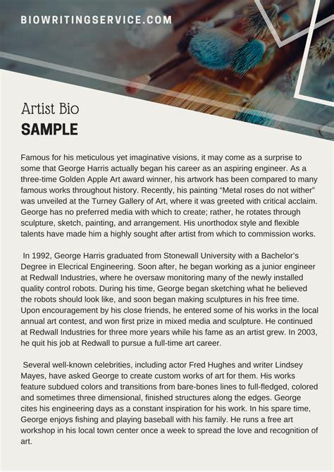 artist biography format artist bio writing service bio writing service