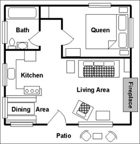 one bedroom cabin plans one room cabin floor plans view floor plan main floor