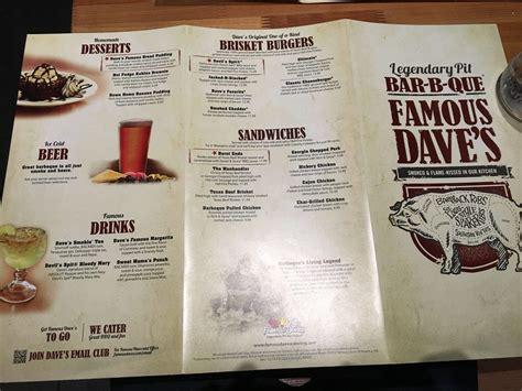 Famous Dave S Bbq Sauce Nutrition Label – Besto Blog Famous Dave's Menu