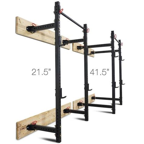 Wall Mounted Power Rack by Titan Fitness T 3 Series Fold Back Power Rack 41 Quot