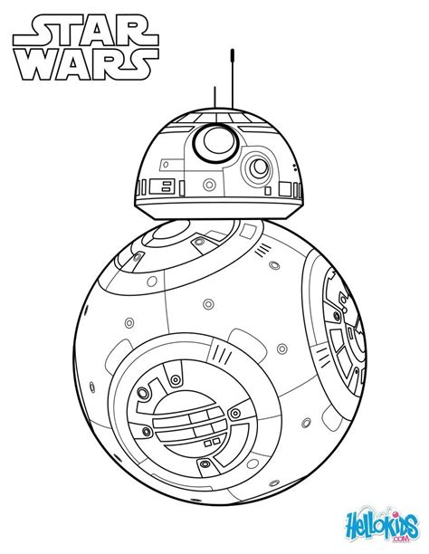 lego bb 8 coloring page bb 8 the force awakens coloring pages hellokids com