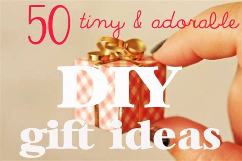 Small Handmade Gift Ideas - 50 tiny and adorable diy gift ideas