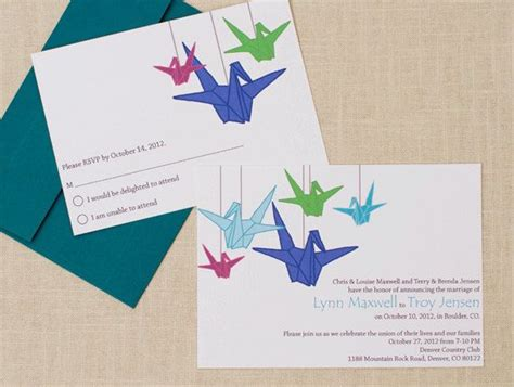 Origami Wedding Invitation - 1000 images about wedding crane on wedding