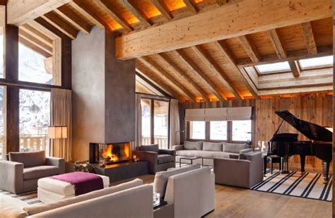 cozy modern summer home design interior in swedish home dream vacation french alps chalet emma for a luxurious