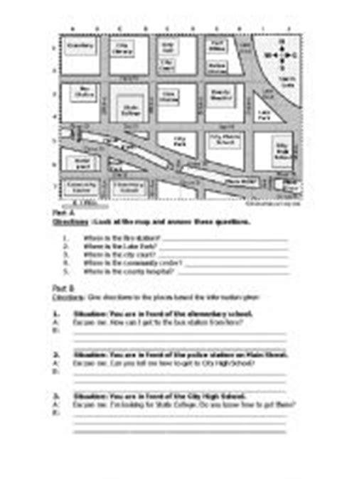 printable worksheets giving directions english worksheet giving directions