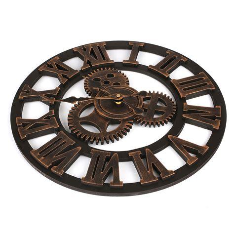 surprise savings on quiet wall clocks european retro silent wooden wall clock 3d big wall clock
