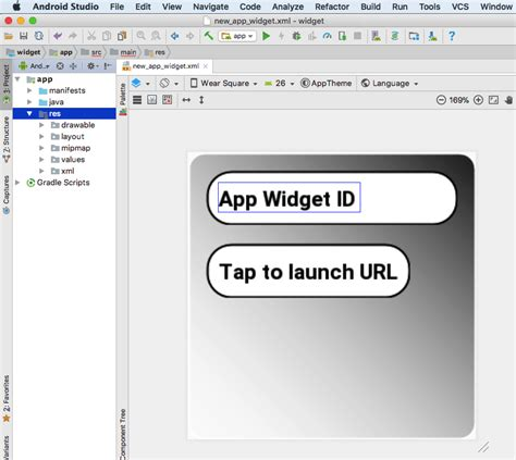 android studio layout widget code a widget for android input and display