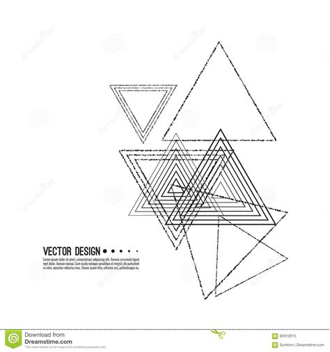 triangle pattern to trace vector hipster triangle background cartoon vector
