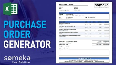 purchase order generator tracker create purchase order
