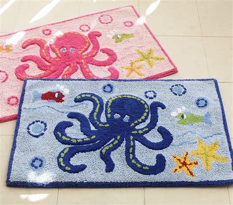 kids bathroom rugs ocean bath mat pottery barn kids