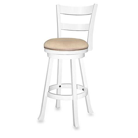 30 inch swivel bar stools sawyer 30 inch swivel wood bar stool in white bed bath
