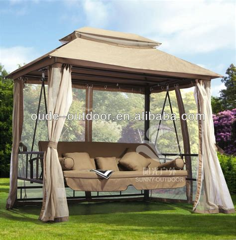 gazebo swing canopy 2016 hot sales two seater outdoor gazebo canopy swing