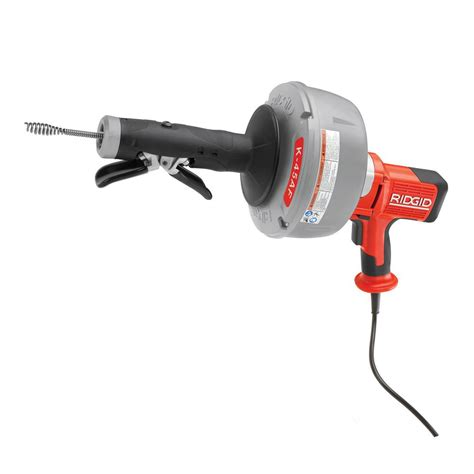Rigid Plumbing Snake by Ridgid 115 Volt K 45af 5 Autofeed Drain Cleaning Machine With C 1 5 16 In Inner Cable And