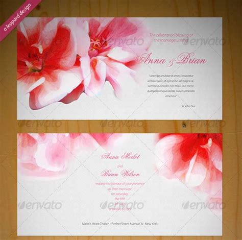 invitation card design tutorial photoshop 40 best wedding invitation psd templates designmaz