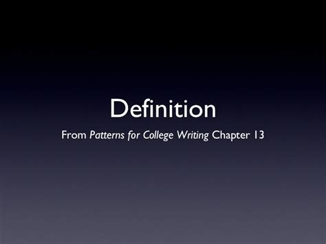 definition pattern paragraph definition essays