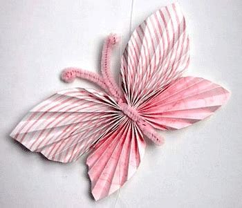 Folded Paper Butterflies - folded paper butterflies hers include using pipe