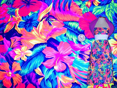 print fabric neon floral print fabric neon print stretch fabric four way
