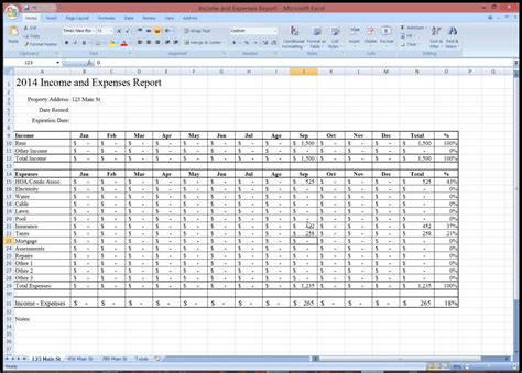 Property Management Monthly Report Template