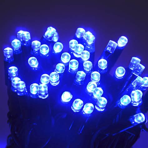 100 blue led string lights outdoor or indoor christmas