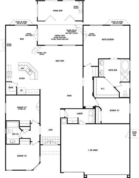 dr horton homes floor plans allen manor a d r horton community in northwest las vegas