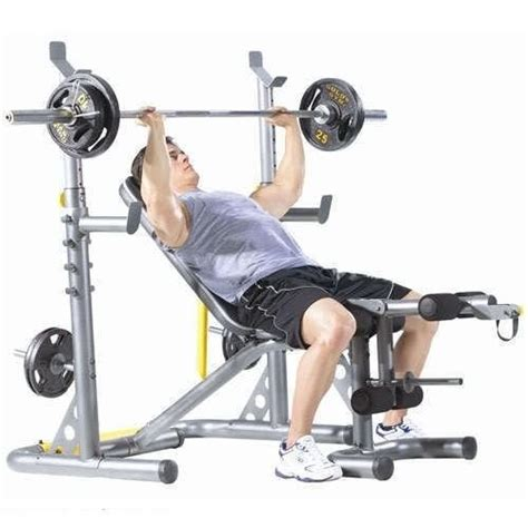 golds gym bench press bar new workout bench golds gym xrs20 weight lifting bench