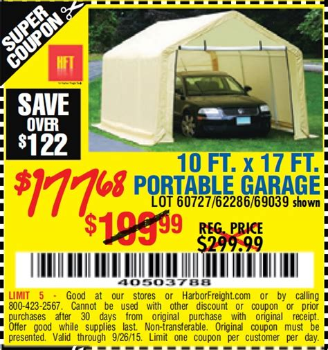 10 X 17 Portable Garage by The Hull Boating And Fishing Forum View Single