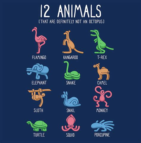 Are Definitely by Clever T Shirt Design Featuring 12 Animals That Are