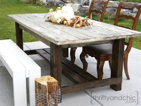 Diy Patio Table Plans Thrifty And Chic Diy Projects And Home Decor