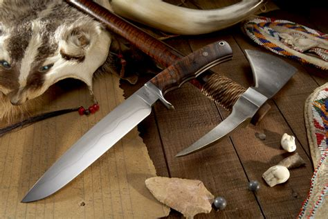 Handmade Tomahawks - elite knives matching tomahawk and knife set