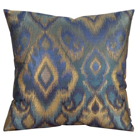 Blue And Gold Throw Pillows Howard Elliott Collection Opal Pacific 20 Inch Square Pillow
