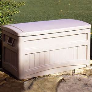 outdoor storage deck box 73 gallons w wheels