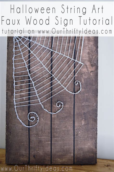 How To Do String On Wood - string faux wood sign tutorial our