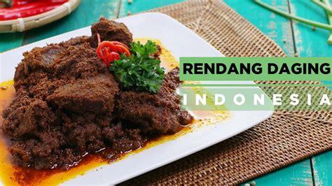 rendang daging indonesia  tempe goreng metode marinasi