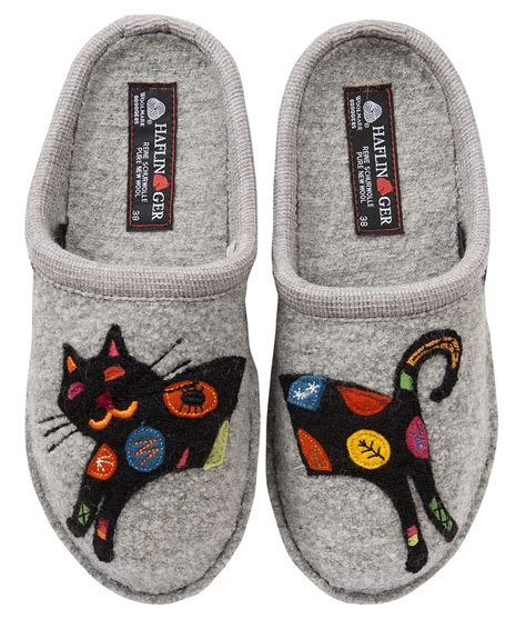 haflinger slippers sale womens haflinger sassy cat slipper s warm cozy wool slipper