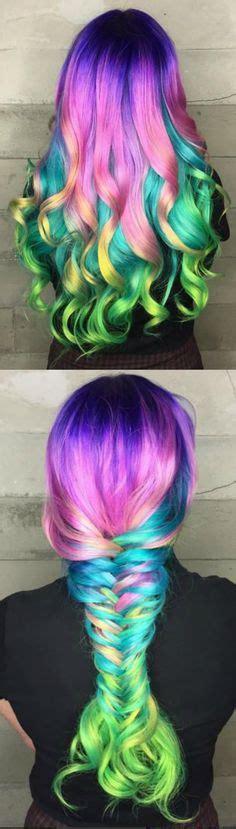 rainbow hairstyling lila haare purple hair rainbow hair styling