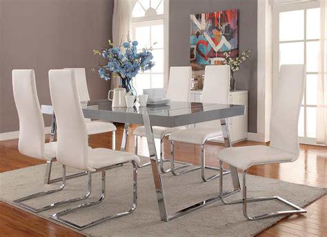 high gloss grey dining table  modern dining