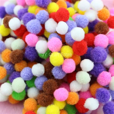 Handmade Pom Pom Decorations - 1500pcs 2 5 quot 10mm pom pom pompom yarn pom pom