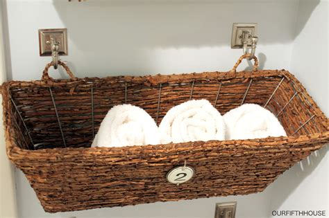Window box bathroom storage perfect for a small bathroom our fifth house