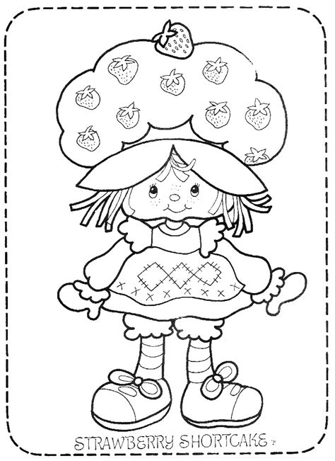 vintage strawberry shortcake coloring pages return to