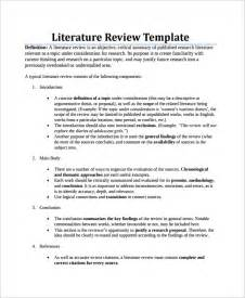 Template For Writing A Literature Review by Sle Literature Review 7 Documents In Pdf Word
