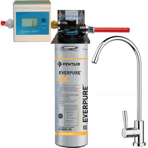 depuratore acqua rubinetto prezzi depuratore acqua everpure 2dc con testa ql2b contalitri e